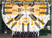 Tunnel Boring Machine (TBM) cutterhead 42.3 ft diameter (as high as 4 story building) & 361 foot long trailing support gear; total length of TBM 428.5 ft (more than football field); largest diameter soft ground TBM in USA