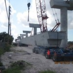 Delivery of precast guideway sections