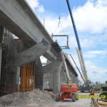 View of west side of Miami International Airport MetroRail Station – NOTE: metal plates for roof canopy attachment