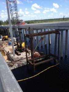 Installing Concrete Pile